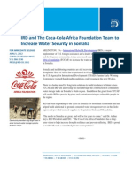 04-05 IRD and The Coca-Cola Africa Foundation Team to Increase Water Security in Somalia