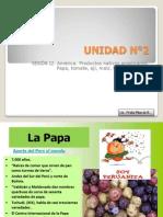 12.- Productos americanos- papa, tomate, frijol, quinua,maíz, ají
