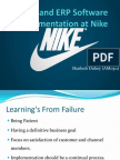 SCM and ERP Software Implementation at Nike   From Failure to     Key Stakeholders