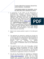 DSC Notification 2012 Dt 29-1-12