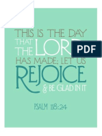 Psalm 118 in Aqua From The Flourishing Abode