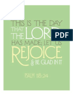Psalm 118 in Green From The Flourishing Abode