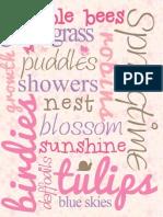 Spring Subway Print - Pink