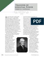 PCII - Transfer of Power (Scholar Essay)