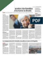 FMI Sugiere Ayudar a Familias Para Reestructurar Deuda