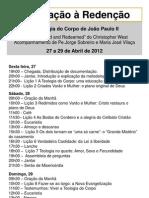 Programa Encontro TdC Fátima