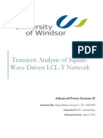 Transient Analysis of LCLT Network With Two Switching Instants