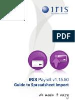 IRIS Payroll Guide to Spreadsheet Import