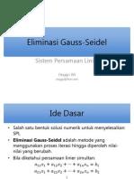 Eliminasi Gauss-Seidel Slide