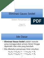 Eliminasi Gauss-Seidel
