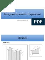 Integrasi Numerik (Trapesium)