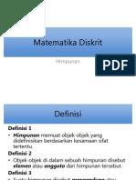 1. Matematika Diskrit - Himpunan