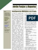 Inteligencias Mu_ltiples en El Aula, Boleti_n 17 Fanjac-Euskadi y Aupatuz, Abril 2012