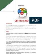 Webquest. Criticismo