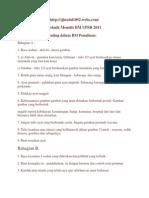 Teknik Menulis BM UPSR 2011
