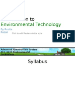 Unit 1 Overview of Environmental Technology by RR