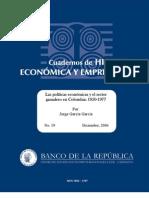 las políticas económicas y el sector ganadero en colombia
