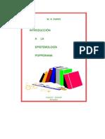 Introduccion a la epistemología popperiana