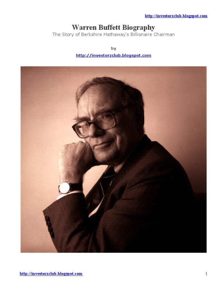 Peachy Warren Buffett Biography Pdf Warren Buffett Benjamin Graham Download Free Architecture Designs Scobabritishbridgeorg