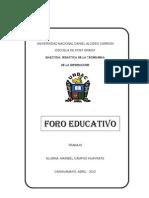 FORO EDUCATIVO