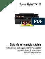 Manual Epson Stylus Tx120