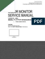 Manual Servicio Monitor Lcd Lg Flatron w1943c Chassis Lm92c