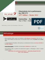 Observatoire de la performance  des PME-ETI Février 2012 - 14ème édition