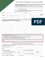 CommonAPP School Report Form
