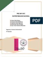 PND 2007-2012 SUSTENTABILIDAD NACIONAL