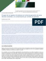 Tapetes ,Microbianos en La Degradacion de Petroleo