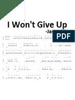 Jason Mraz i Wont Give Up Piano Sheet Music