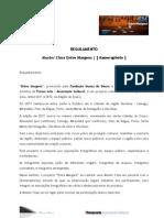 Regulamento Master Class Entre Margens