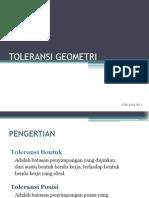 TOLERANSI GEOMETRI