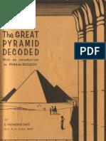 E Raymond Capt - The Great Pyramid Decoded Pyramidology