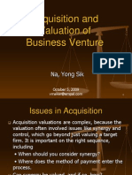 Acquisition and Valuation of Business Venture