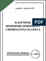 9 Kalendar Hemisfere Dominantna Planeta