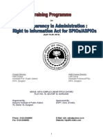 Right to Information - Study Material for My Trainees