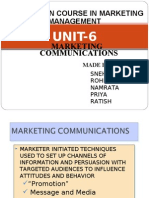 Marketing Communications 2003