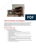 Do's and Dont's during Earthquake - Naresh Kadyan