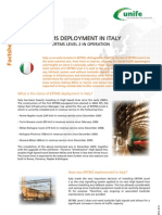 ERTMS Facts Sheet 4 - ERTMS Deployment in Italy