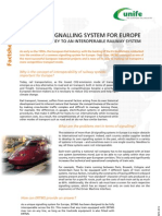 ERTMS Facts Sheet 9 - A Unique Signalling System for Europe
