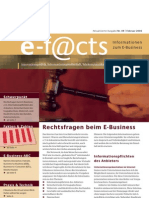 E-Facts 9 - Rechtsfragen beim E-Business