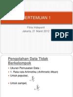 PERTEMUAN 1 Teknik Pengolahan Data