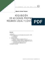 Acciones_compra de Acciones Propias. Regimen Legal y Contable