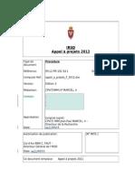 MIL Appel a Projets F 2012