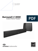 Polk Surround Bar SB3000IHT_EnglishManual