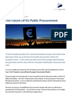 The Future of EU Public Procurement