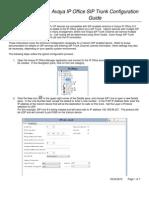 Avaya IPOffice SIP Trunk Configuration Guide
