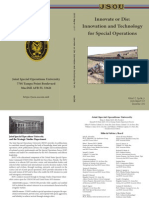 Innovate or Die - Innovation & Technology for Special Operations