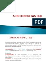 Sub Consult as SQL